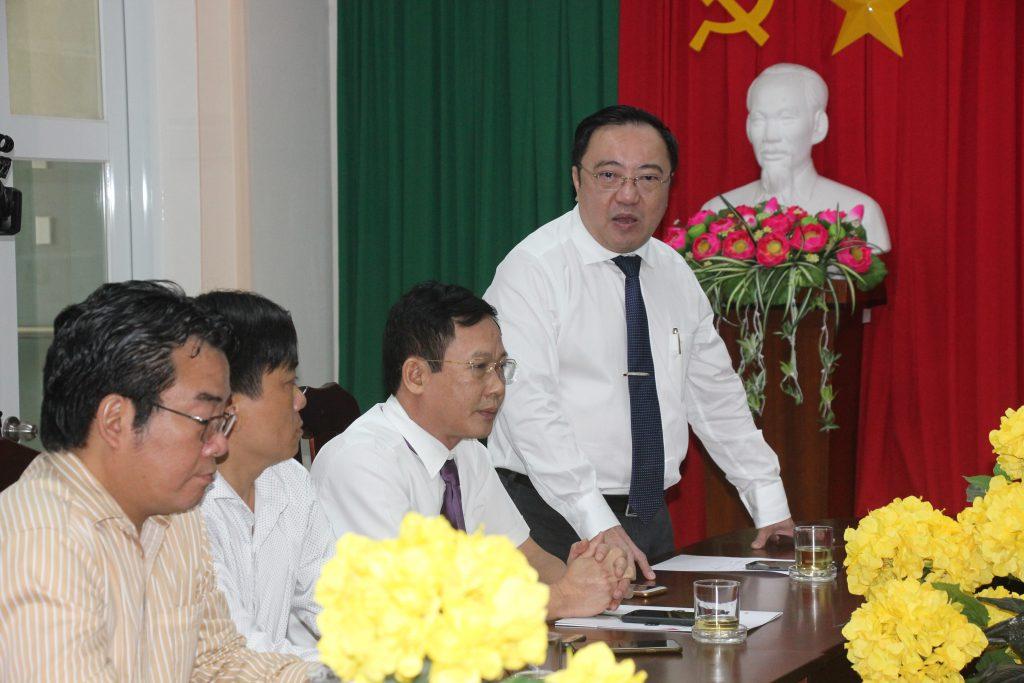 Bác sĩ Phan Huy Anh Vũ - Giám đốc Sở Y tế Đồng Nai phát biểu