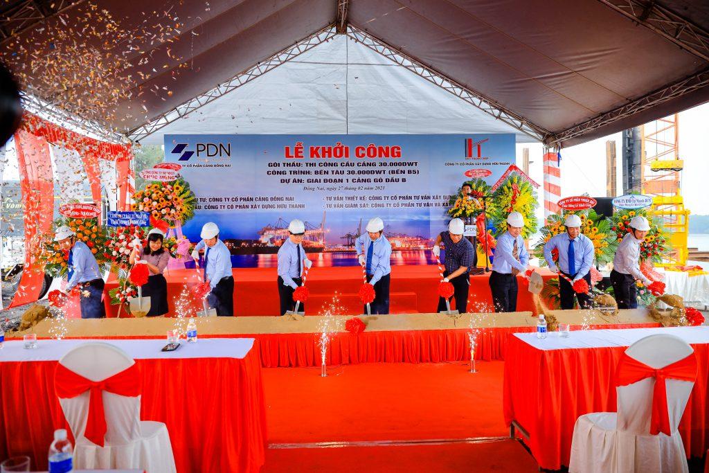 Lễ khởi công công trình bến tàu 30.000DWT - Bến B5 - tại Cảng Gò Dầu