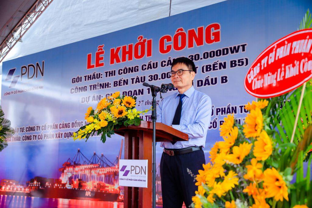 Ông Phan Đình Thám – TGĐ Tổng công ty Sonadezi phát biểu chúc mừng PDN