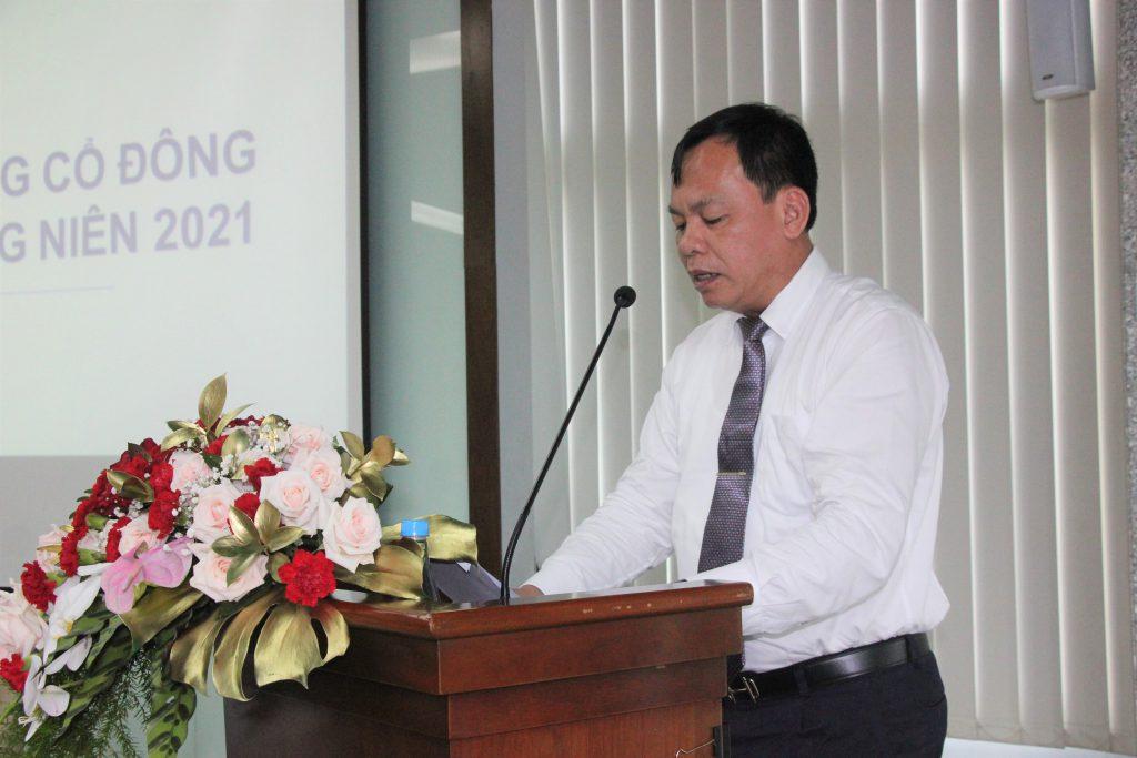 Phó Chủ tịch UBND tỉnh Đồng Nai Võ Tấn Đức phát biểu tại buổi họp ĐHĐCĐ thường niên năm 2021 của Sonadezi