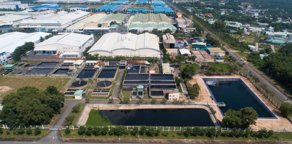 Nhà máy xử lý nước thải tập trung tại KCN Giang Điền