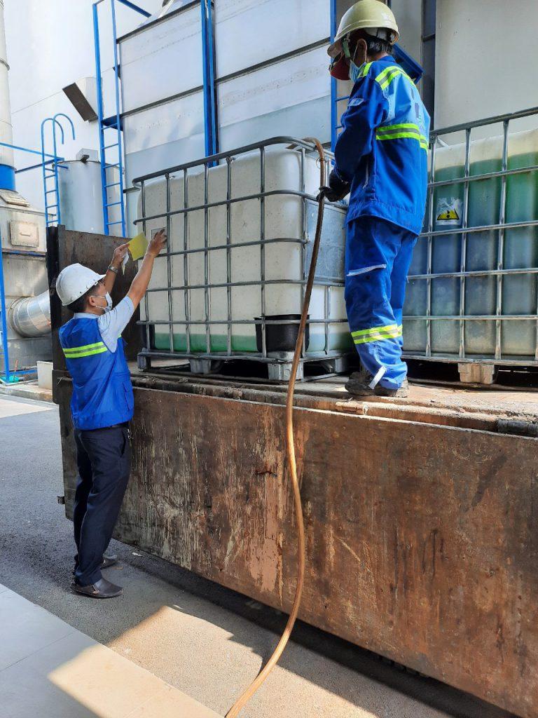 Thu gom chất thải lỏng tại Công ty TNHH Daikan Việt Nam